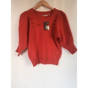 Kimchi Blue Orange Anthropologie Sweater/Pullover